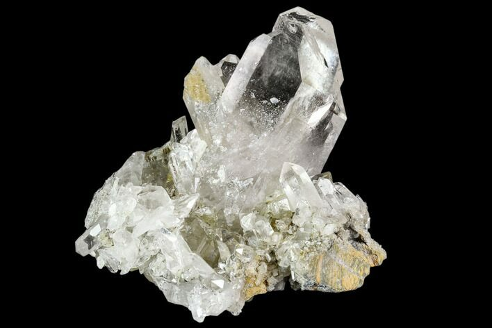 "3.4"" Clear Quartz Crystal Cluster - Hardangervidda, Norway"