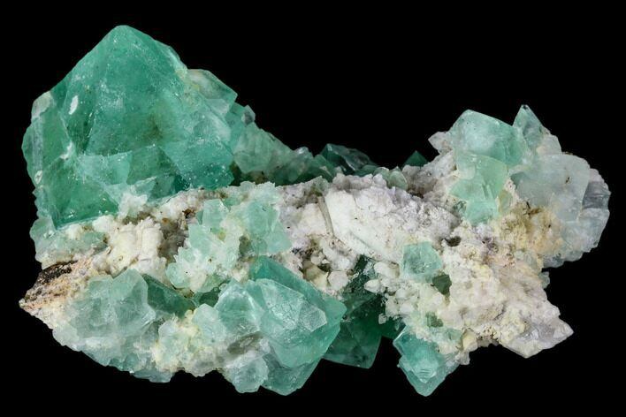 "2.6"" Green Fluorite Crystal Cluster - South Africa"