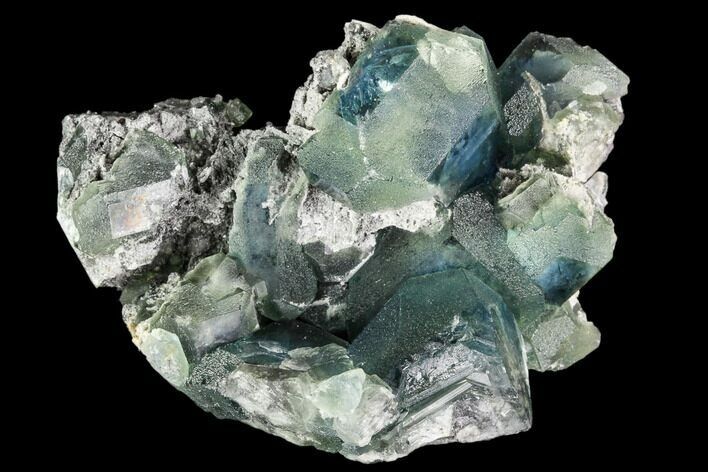 "2.7"" Green Fluorite Crystal Cluster - China"
