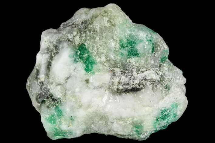 "1"" Beryl (Var. Emerald) in Calcite - Khaltoru Mine, Pakistan"