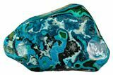"5"" Polished Botryoidal Chrysocolla and Malachite - Congo - #112170-1"