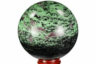 "2.8"" Polished Ruby Zoisite Sphere - Tanzania For Sale, #112511"