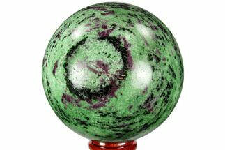 "3.2"" Polished Ruby Zoisite Sphere - Tanzania For Sale, #112517"