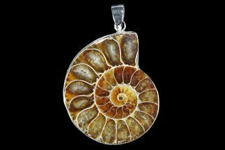 "1.5"" Fossil Ammonite Pendant - 110 Million Years Old For Sale, #112466"