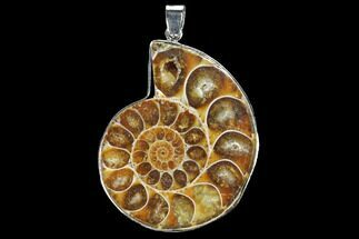 "1.7"" Fossil Ammonite Pendant - 110 Million Years Old For Sale, #112472"