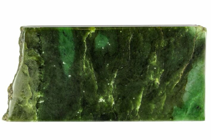 "7.3"" Polished Canadian Jade (Nephrite) Slab - British Colombia"