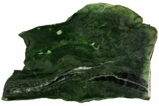 "Beautiful, 11.7"" Polished Jade (Nephrite) Slab - British Colombia For Sale, #112754"