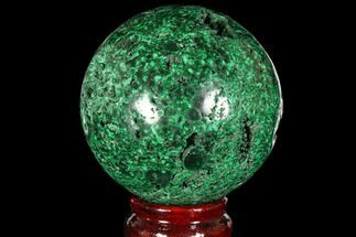 "Buy Gorgeous 2.9"" Polished Malachite Sphere - Congo - #113416"
