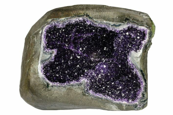 "11"" Top Quality, Deep Purple Amethyst Geode - Uruguay"