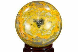 "Buy 2.5"" Polished Bumble Bee Jasper Sphere - Indonesia - #114793"