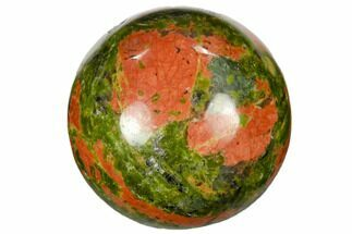 "1.2"" Polished Unakite Sphere For Sale, #115472"