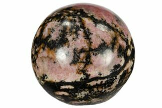"1.2"" Polished Rhodonite Sphere For Sale, #115925"