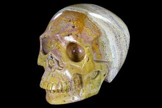 "6.2"" Realistic, Polished Ocean Jasper Skull - Madagascar For Sale, #116504"