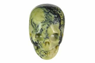 "2"" Realistic, Polished ""Yellow Turquoise"" Jasper Skull For Sale, #116540"