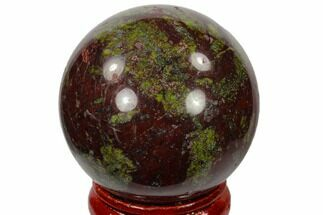 "Buy 1.6"" Polished Dragon's Blood Jasper Sphere - Australia - #116113"