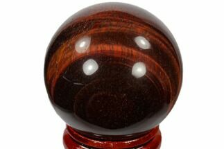 "Buy 1.6"" Polished Red Tiger's Eye Sphere - South Africa - #116086"