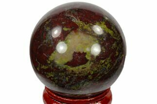 "Buy 1.6"" Polished Dragon's Blood Jasper Sphere - Australia - #116104"