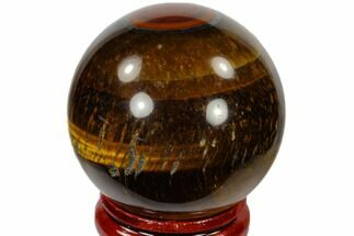 "1.6"" Polished Tiger's Eye Sphere - South Africa For Sale, #116066"