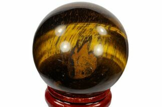 "1.6"" Polished Tiger's Eye Sphere - South Africa For Sale, #116072"