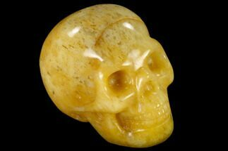 "1.9"" Realistic, Polished Yellow Aventurine Skull  For Sale, #116813"