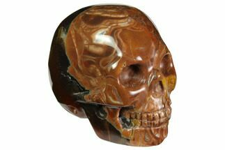 "Buy 1.9"" Realistic, Polished Brecciated Jasper Skull  - #116836"