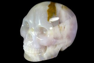 "1.9"" Realistic, Polished Agate Skull  For Sale, #116837"