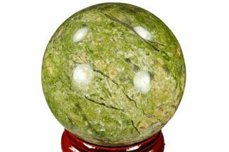 "1.55"" Polished Unakite Sphere - Canada For Sale, #116129"