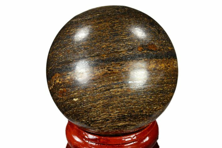 "1.6"" Polished Bronzite Sphere - Brazil"