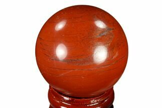 "Buy 1.5"" Polished Red Jasper Sphere - Brazil - #116023"