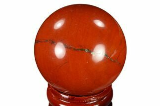 "1.5"" Polished Red Jasper Sphere - Brazil For Sale, #116027"