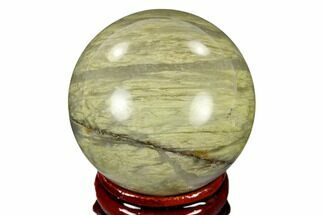 "1.55"" Polished Green Hair Jasper Sphere - China For Sale, #116228"