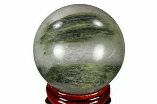"1.6"" Polished Green Hair Jasper Sphere - China For Sale, #116231"