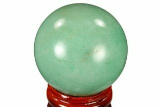 "Buy 1.6"" Polished Green Aventurine Sphere - China - #115996"