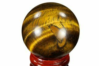 "1.6"" Polished Tiger's Eye Sphere - South Africa For Sale, #116063"