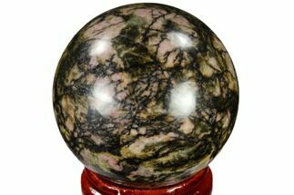 "Buy 1.55"" Polished Rhodonite Sphere - India - #116170"