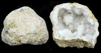 "3 - 4"" Sparkling Pre-Cracked Quartz Geodes From Morocco For Sale, #118055"
