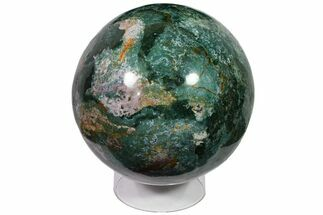 "Massive, 10.6"" Green Ocean Jasper Sphere - 64 lbs For Sale, #118700"