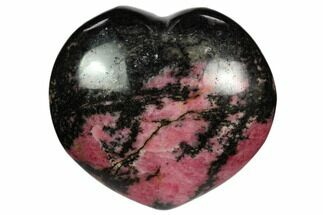 "Buy 2.8"" Polished Rhodonite Heart - Madagascar - #117352"