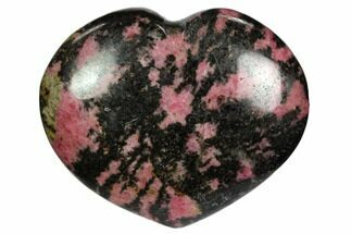 "Buy 3.5"" Polished Rhodonite Heart - Madagascar - #117355"