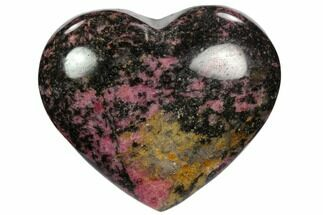 "3.7"" Polished Rhodonite Heart - Madagascar For Sale, #117365"