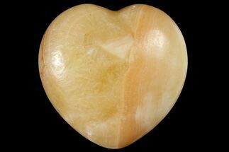 "1.6"" Polished Orange Calcite Heart For Sale, #121124"