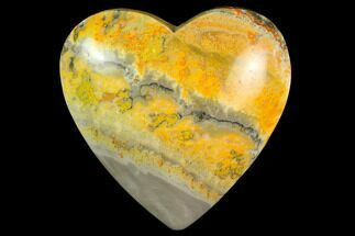 "3.2"" Polished Bumblebee Jasper Heart - Indonesia For Sale, #121205"