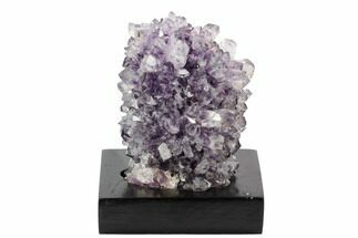 "Buy 3.5"" Tall, Amethyst Cluster On Wood Base - Uruguay - #121288"