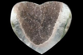 "3.2"" Druzy Amethyst Heart - Uruguay For Sale, #121412"