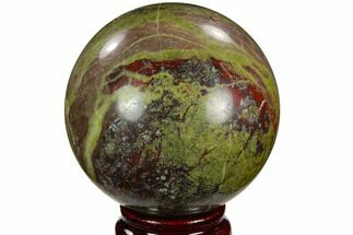 "3"" Polished Dragon's Blood Jasper Sphere - South Africa For Sale, #121574"