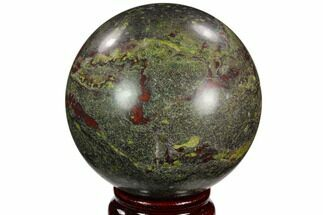 "Buy 3"" Polished Dragon's Blood Jasper Sphere - South Africa - #121576"