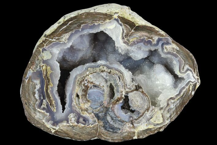 "3.2"" Crystal Filled Dugway Geode (Polished Half)"