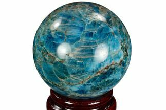 "2.15"" Bright Blue Apatite Sphere - Madagascar For Sale, #121841"