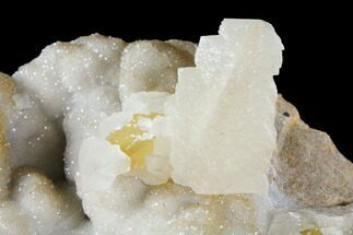 "5.4"" Calcite Crystals After Calcite on Druzy Quartz - Missouri For Sale, #122123"