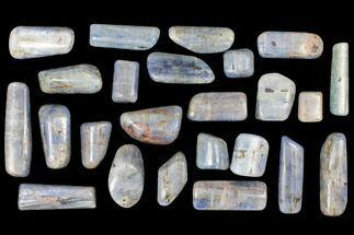 Lot: 1lb Polished, Blue Kyanite - 24 Pieces For Sale, #116276